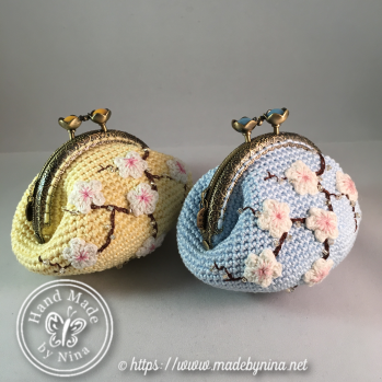 Yellow Cherry Blossom *Coin Purse (Side)